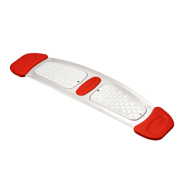 Rachael Ray Stainless Steel Multi-Grater with Silicone Handles - Red~46914