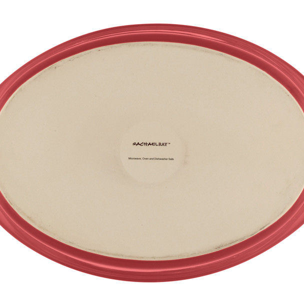 Rachael Ray Stoneware 1.25- and 2.25-Quart Bubble & Brown Oval Baker Set - Red~55098