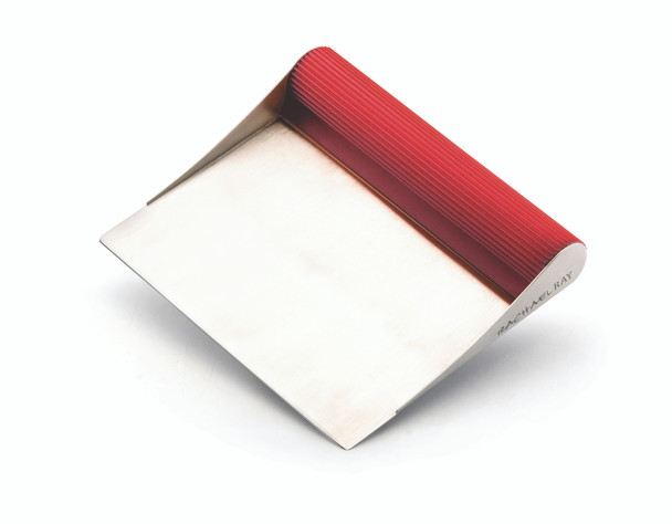 Rachael Ray Tools and Gadgets Stainless Steel Bench Scrape - Red~56688