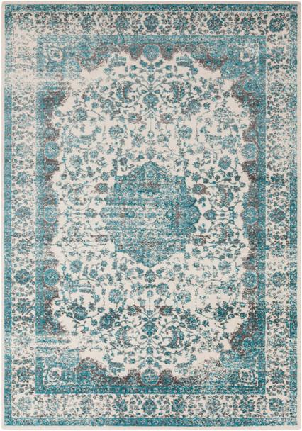 Aberdine Vintage Tabriz Aqua Blue Rug~ABE8005