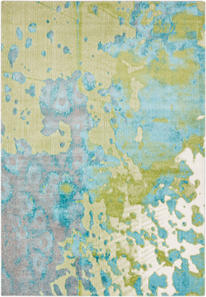 Aberdine Modern Art Aqua Blue and Teal Rug~ABE8015