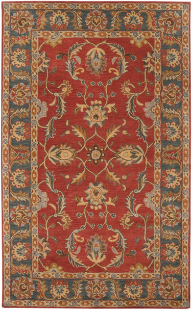 Caesar Classic Deep Rust and Brown Hand Tufted Wool Rug~CAE1007