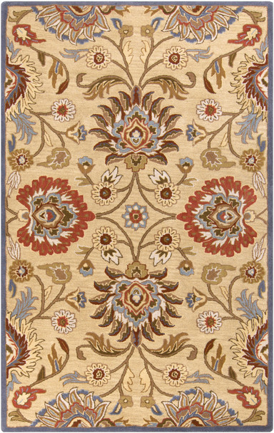 Caesar Classic Ivory and Blue Hand Tufted Wool Rug~CAE1116