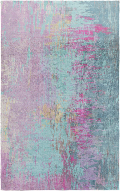 Felicity Modern Art Bright Purple Pink and Teal Rug~FCT8003