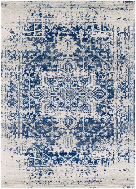 Harput Vintage Tabriz Dark Blue Rug~HAP1021