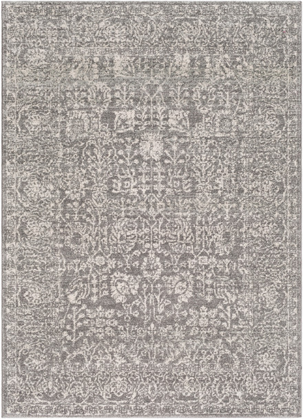 Harput Vintage Antique Gray and Charcoal Rug~HAP1029
