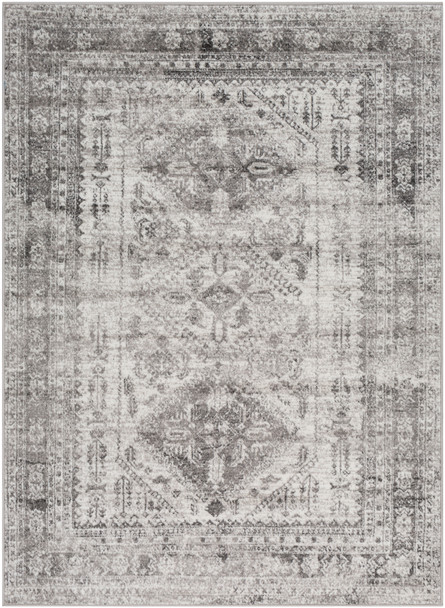 Monte Carlo Vintage Light Gray and White Rug~MNC2314