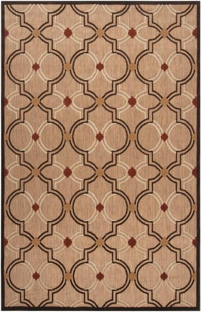 Paramount Indoor Outdoor Tile Pattern Khaki Rug~PRT1049