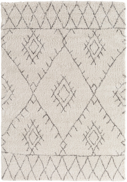 Wilder Tribal Gray and Khaki Rug~WDR2003