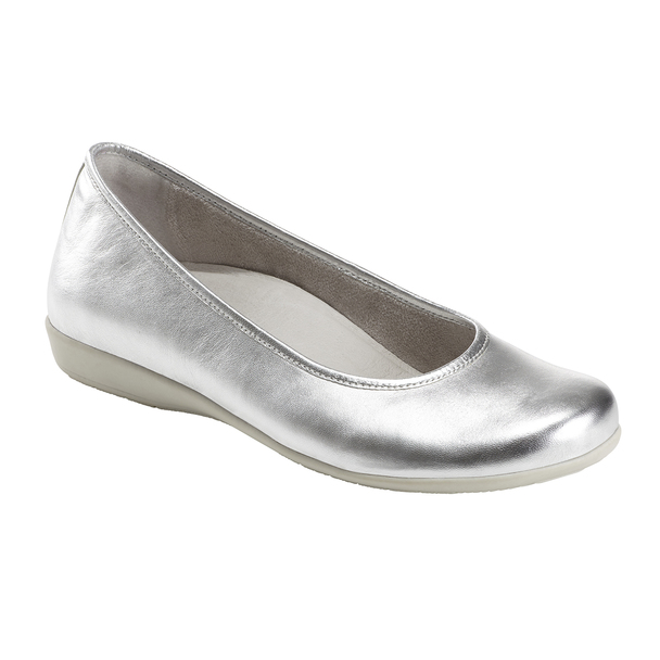 Alder Astoria Metallic Leather Ballet Flat~602623WMET