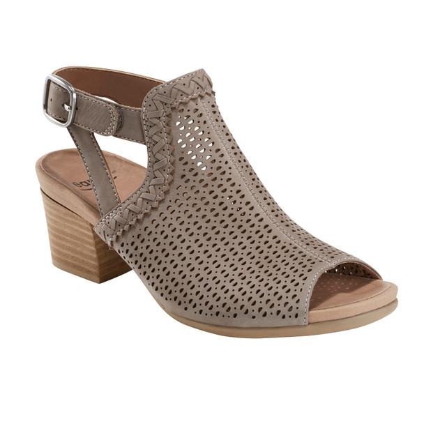 Ivy Syrah Soft Leather Sandal~Grey*602723WBCK