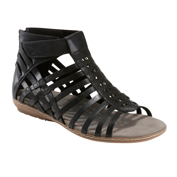 Camellia Marconi Leather Sandal~Black*602763WLEA