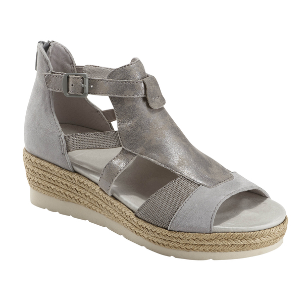 Modena Jasmine Suede Sandal~Silver Grey*602801WSDE