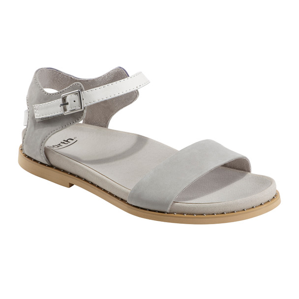 Grove Cameo Soft Leather Sandal~Silver Grey*602832WBCK