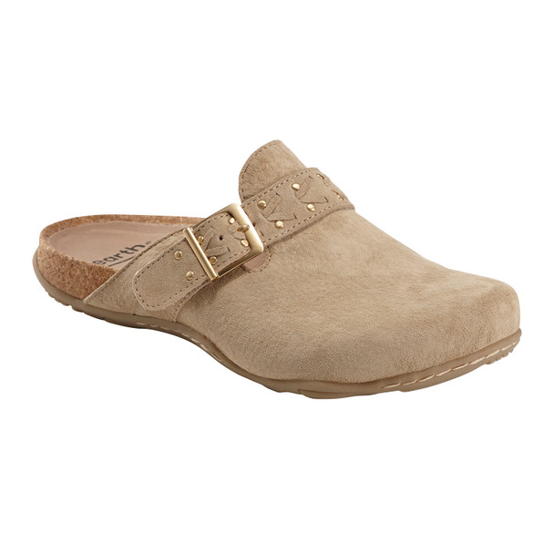 Sand Cayman Nubuck Leather Clog~602848WBCK