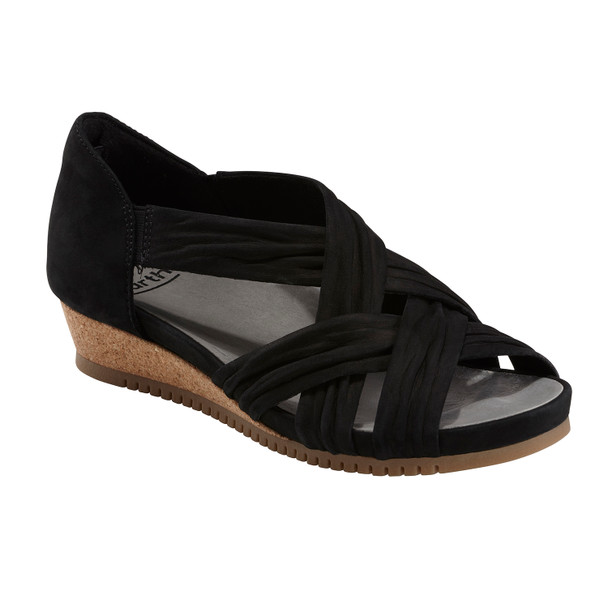 Ficus Gemini Soft Leather Sandal~Black*602861WBCK