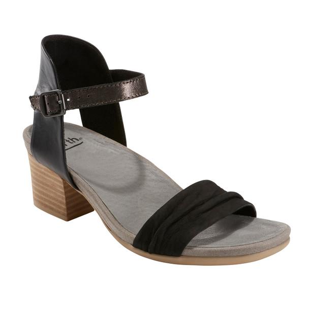 Ivy Symphony Nubuck Leather Sandal~Black*602909WBCK