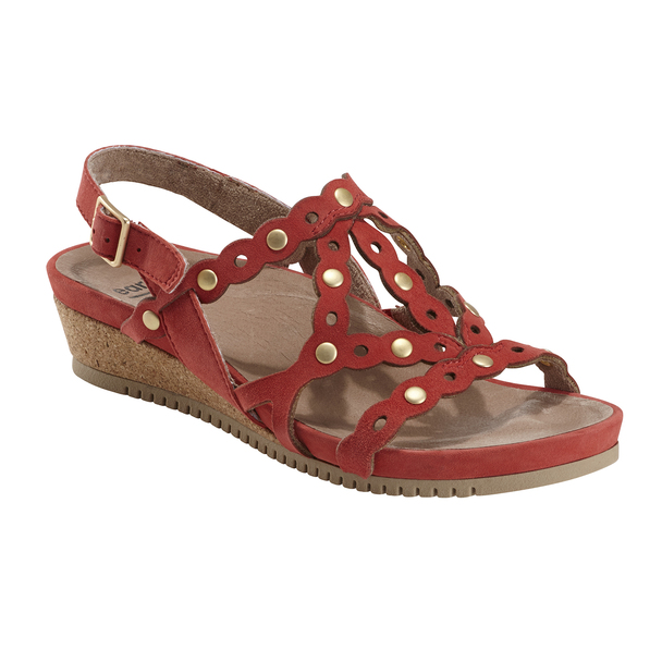 Ficus Leo Suede Sandal~Bright Coral*602923WSDE