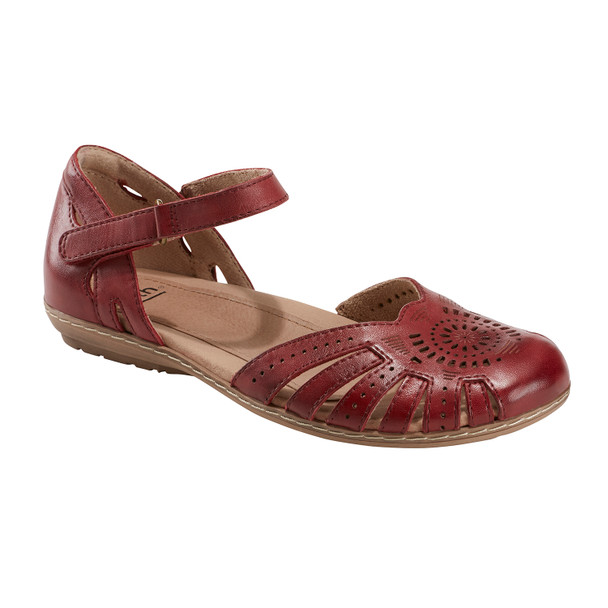 Camellia Cahoon Leather Sandal~Regal Red*602947WLEA