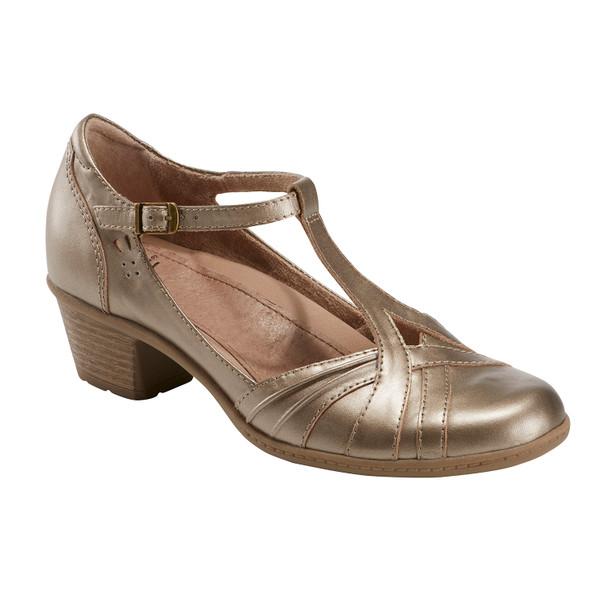 Marietta Polaris Metallic Leather Mary Jane~602966WMET