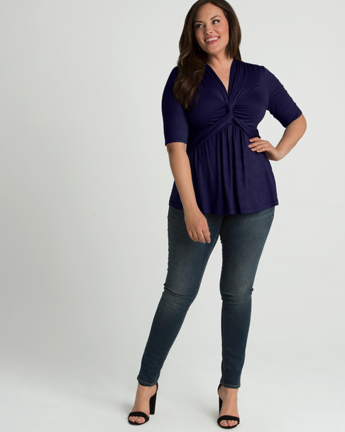 Kiyonna Women's Plus Size Caycee Twist Top~28101801