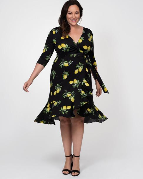 Kiyonna Women's Plus Size Flirty Flounce Wrap Dress~12132207