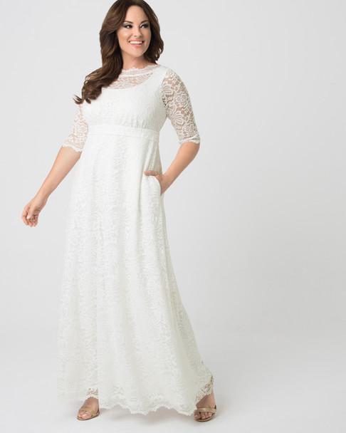 Kiyonna Women's Plus Size Sweet Serenity Wedding Gown~Ivory/White*13170916