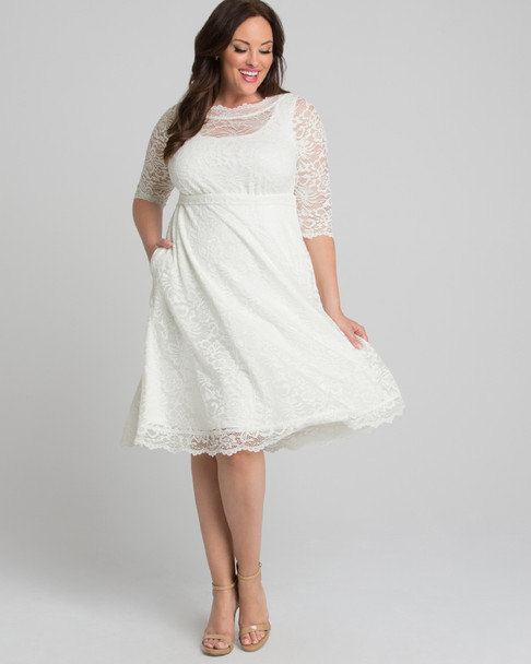 Kiyonna Women's Plus Size Pretty in Lace Wedding Dress~19180902