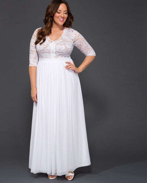 Kiyonna Women's Plus Size Everlasting Love Wedding Gown~19182606