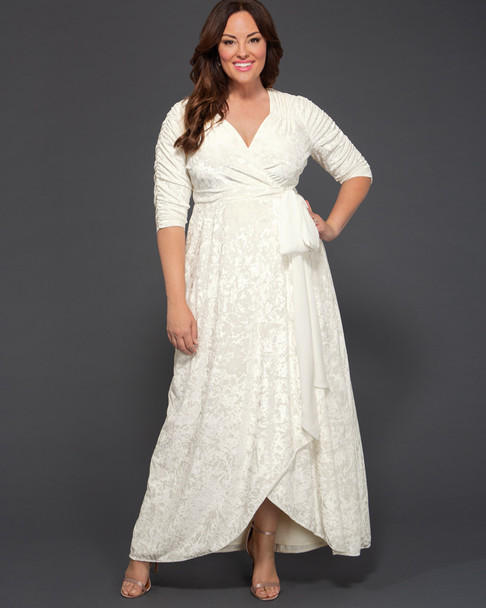Kiyonna Women's Plus Size Vie En Velvet Wedding Dress~19183007