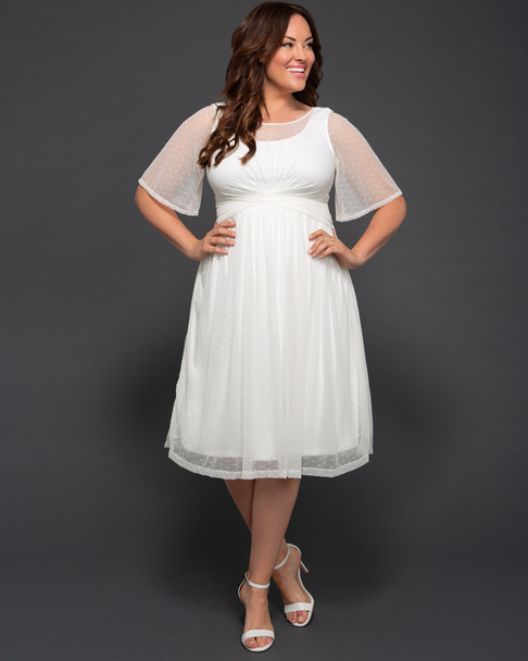 Kiyonna Women's Plus Size Stars A-Line Wedding Dress~19183601