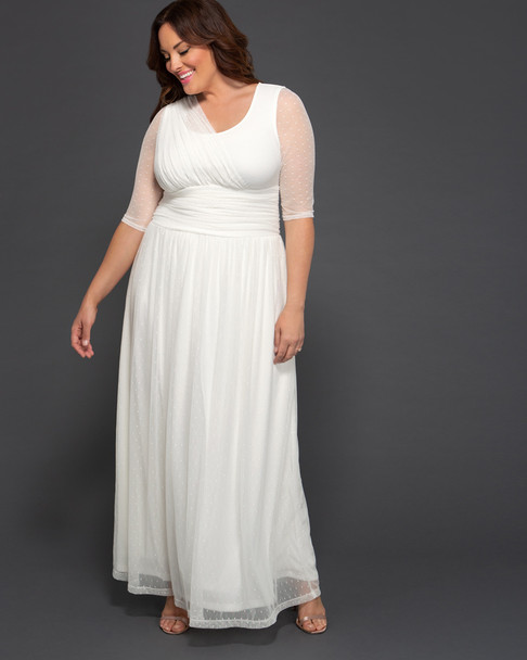 Kiyonna Women's Plus Size Meant To Be Chic Wedding Dress~19183605