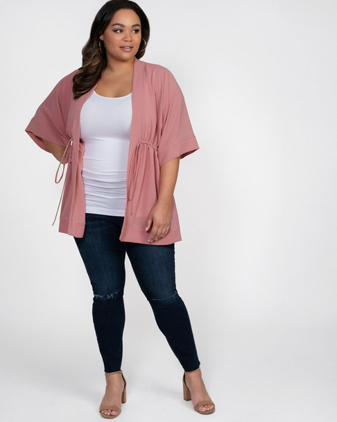 Kiyonna Women's Plus Size Bali Breeze Bellini Cardigan~21192802