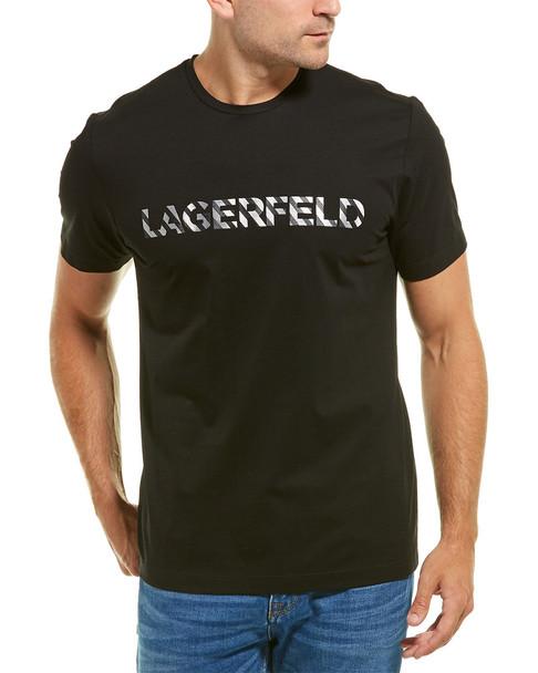 KARL LAGERFELD Foil Stripe Logo T-Shirt~1010287578