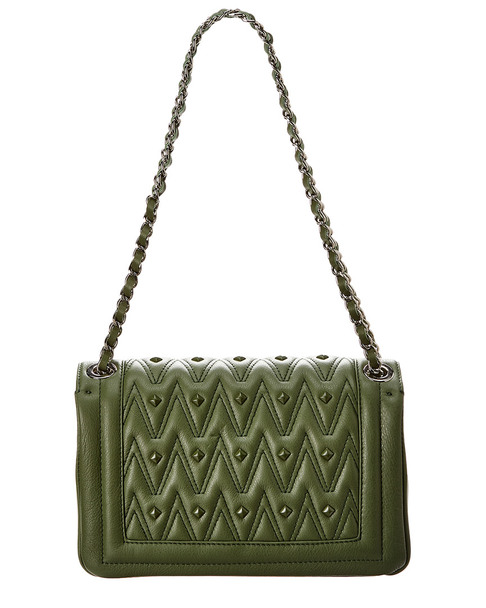 Valentino by Mario Valentino Alice D Sauvage Studs Leather Shoulder Bag~11602254100000
