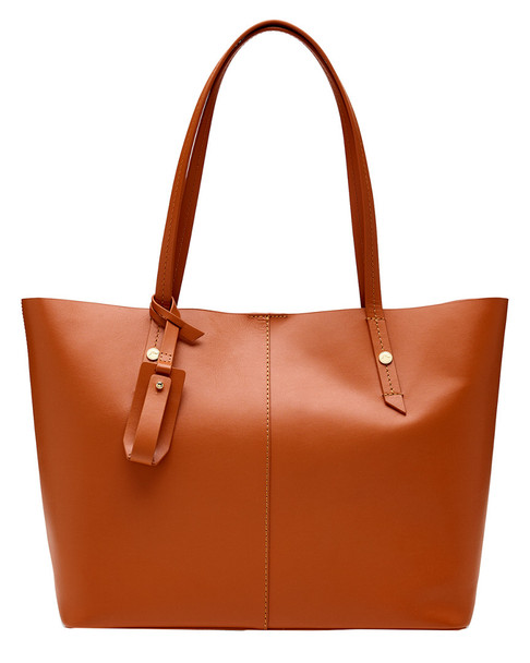 J.Crew Smooth Leather E/W Tote~11602854130000