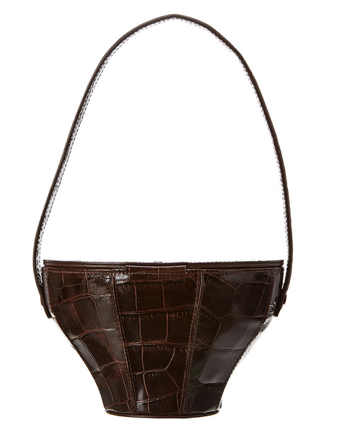 STAUD Croc-Embossed Leather Bucket Bag~11602947340000
