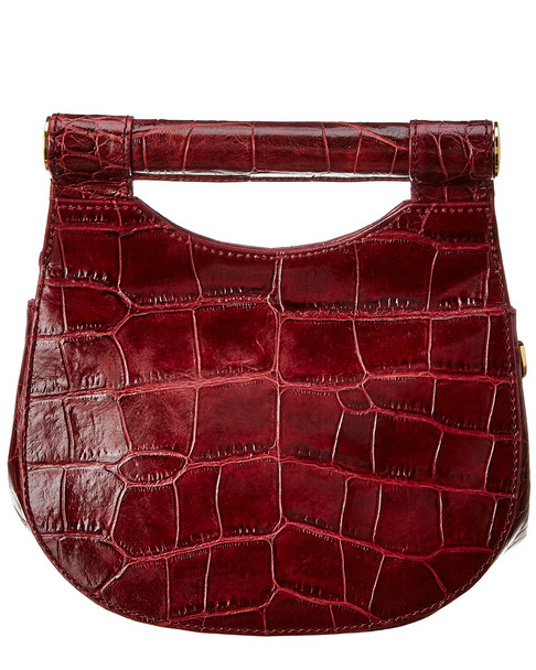STAUD Madeline Croc-Embossed Leather Shoulder Bag~11602947360000
