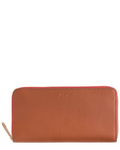 J.Crew Leather Continental Wallet~11622853990000