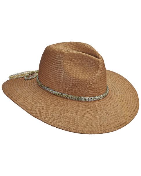 Brooklyn Hat Co Palmara Metallic Trim Safari Hat~11713964390000