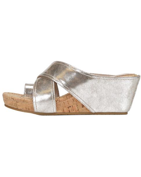 Donald Pliner Geea Metallic Leather Wedge Sandal~1311288756