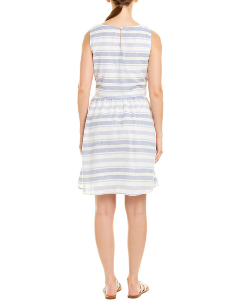 beachlunchlounge Linen-Blend A-Line Dress~1411094025