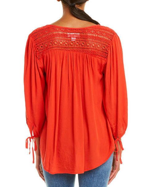 Band of Gypsies Lace Yoke Top~1411094316