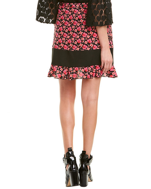 Anna Sui Wildflowers in the Wind Silk Mini Skirt~1411101217
