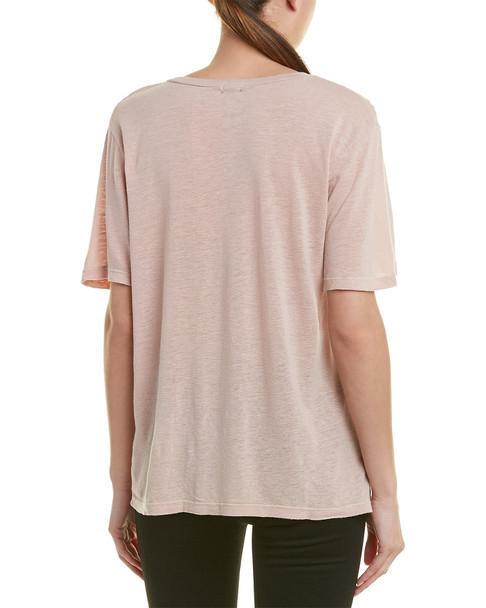 Monrow Oversized Linen-Blend Top~1411214913
