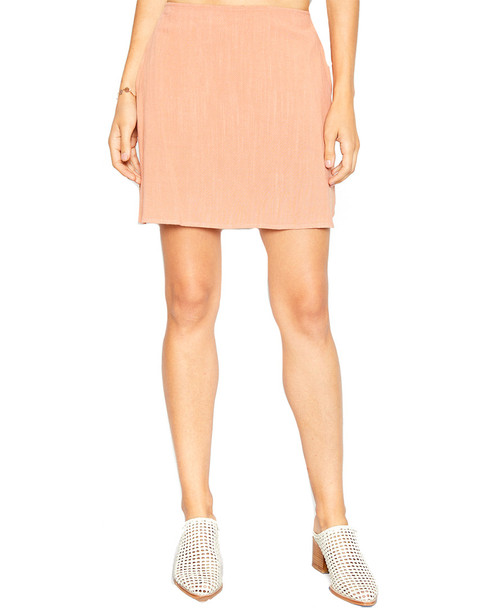 Sadie & Sage Linen-Blend Mini Skirt~1411248890