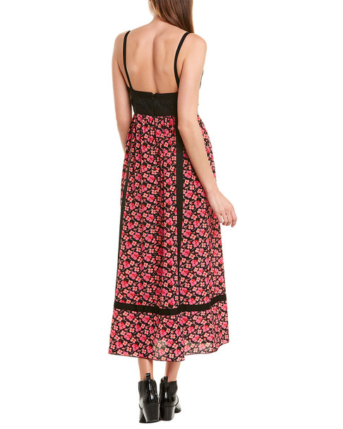 Anna Sui Wildflowers in the Wind Silk Maxi Dress~1411426277