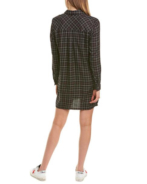 Michael Stars Checkered Shirt Dress~1411525358