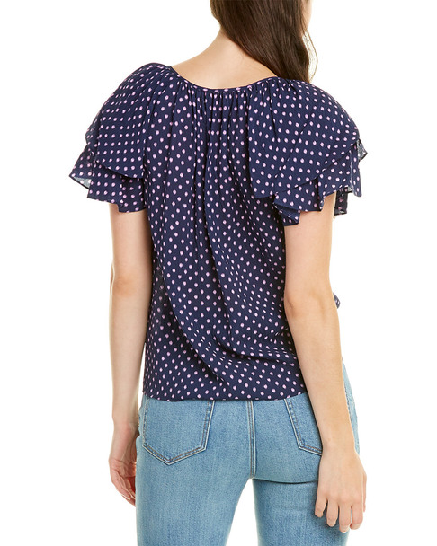 Rebecca Taylor Ikat Dot Silk-Blend Top~1411964738