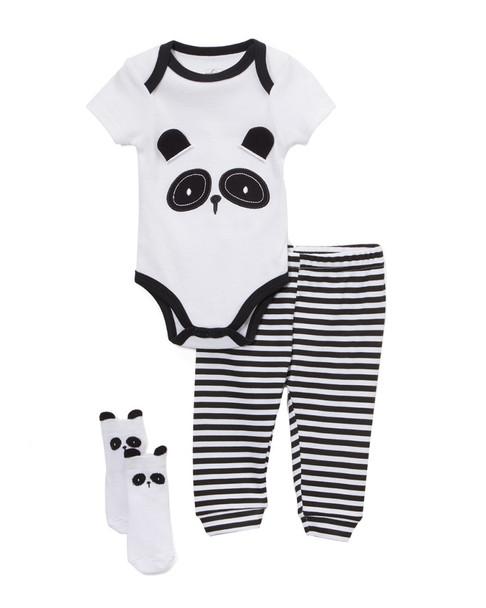 Q by Quiltex 3pc Mr. Panda Set~1511225868